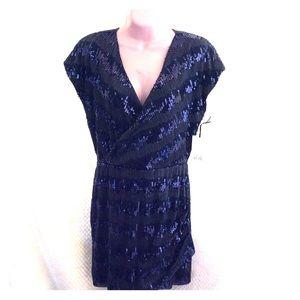 NWT 🎉🎉AliRo sequin royal blue mini dress.